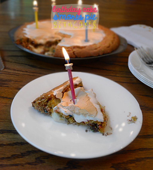 Birthday Cake Smores Pie
