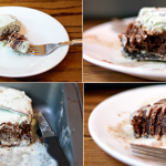 Mint Chocolate Chip Ice Cream Brownie Pie