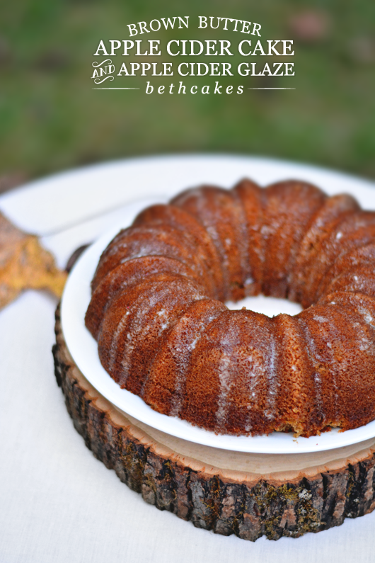 Brown Butter Apple Cider Cake by bethcakes.com