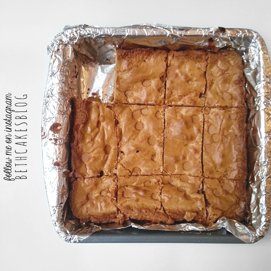 butterscotch brownies - bethcakes.com