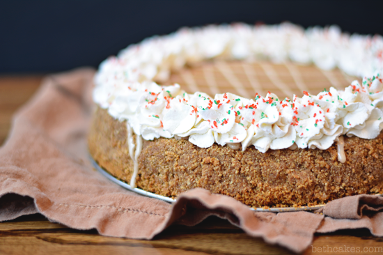 Bourbon Gingerbread Cheesecake - bethcakes.com