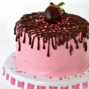 Strawberry Fudge Cake