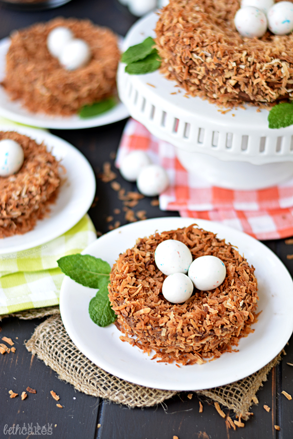 Cute and easy Bird's Nest Cakes! bethcakes.com