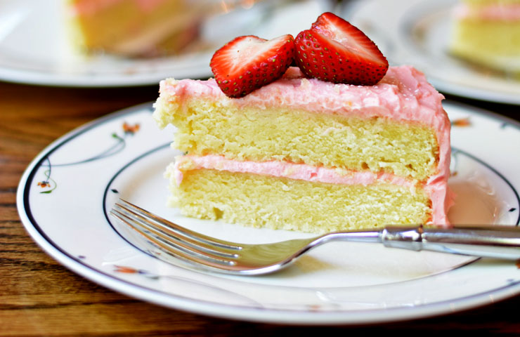 Strawberry Lemon Cake and the BEST Strawberry Frosting