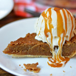 Butterscotch Brownie Pie