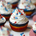Mini Red, White, and Blue Cheesecakes