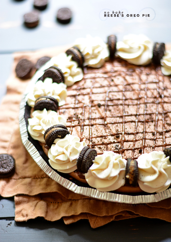 No-Bake Reese's Oreo Pie