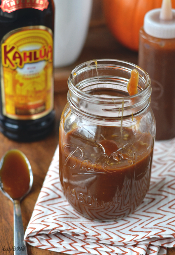 Homemade Kahlua Caramel Sauce! bethcakes.com