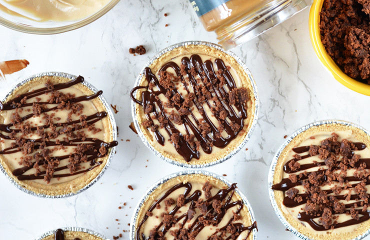 Mini Cookie Butter Brownie Pies