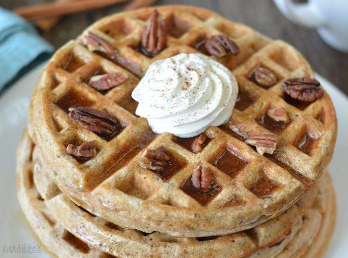 Cinnamon Pecan Waffles [Guest Post]