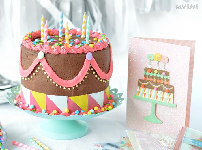 Carnival Cake for bethcakes 2nd blogiversary!
