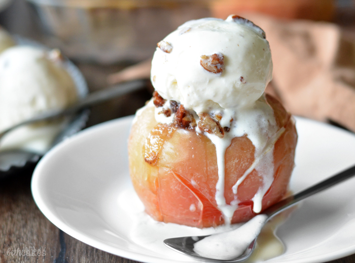 Bourbon Pecan Pie Stuffed Baked Apples