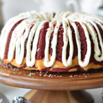 Marbled Team Colors Bundt Cake