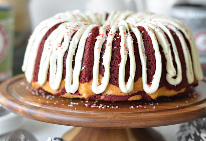 Marbled Team Colors Bundt Cake