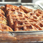 Waffle French Toast Bake with Browned Butter Maple Sauce