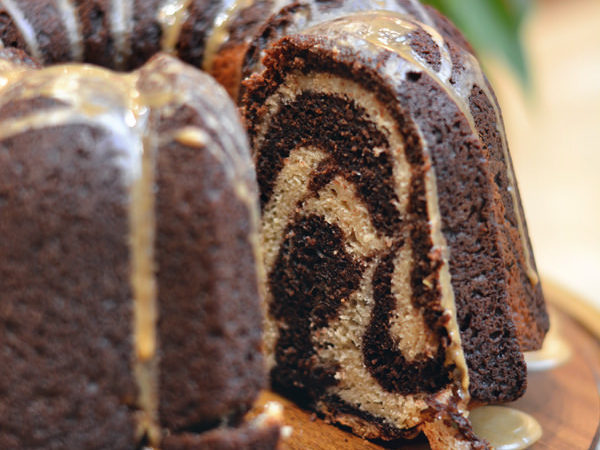 Marbled Chocolate Coffee Bundt Cake