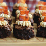 Whiskey Bacon Brownies