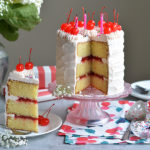 Cherry Birthday Cake with Cherry Filling