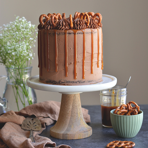 Sweet & Salty Chocolate Stout Cake