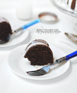 Bailey's Chocolate Cake with Marshmallow Drizzle - bethcakes.com