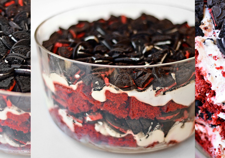 Red Velvet Oreo Trifle
