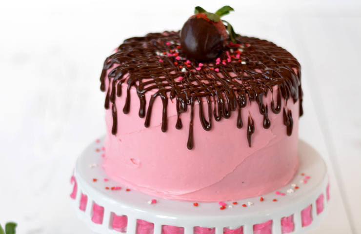 Strawberry Fudge Cake