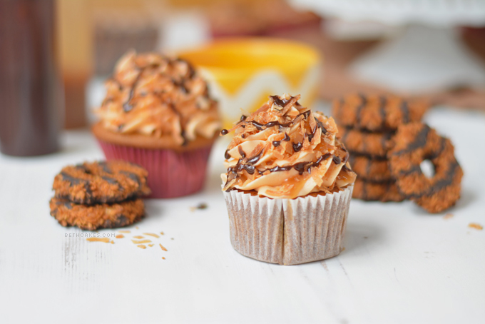 Samoa Surprise Cupcakes
