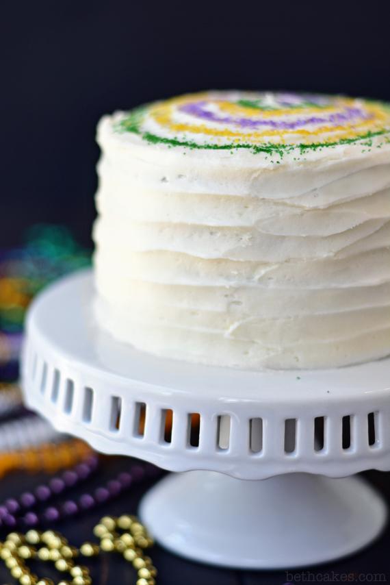Mardi Gras Cake - bethcakes.com