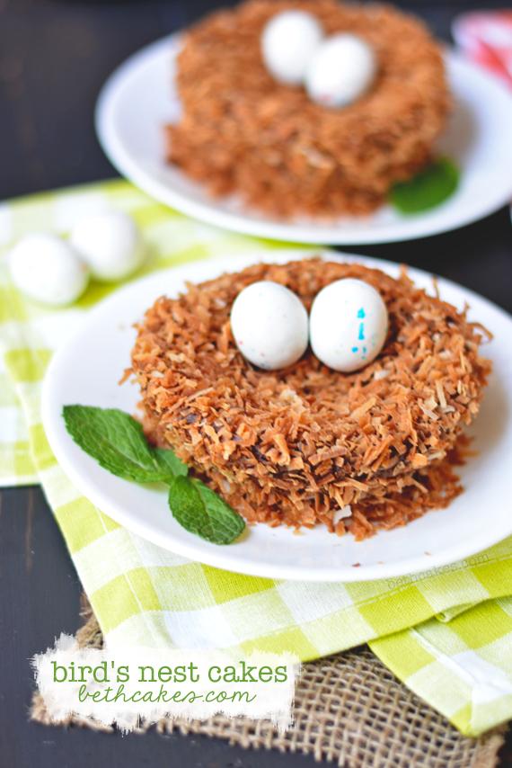 Cute and easy Bird's Nest Cakes! bethcakes.com