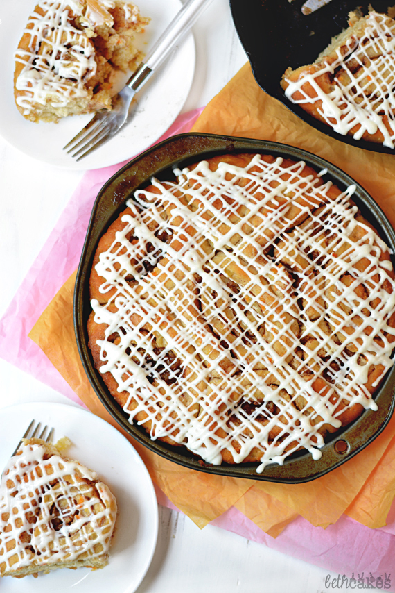 Carrot Cake Cinnamon Rolls! Definitely necessary for your Easter brunch table! bethcakes.com