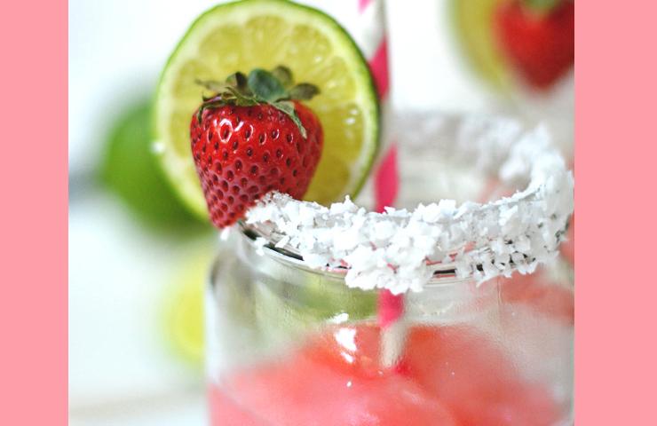 Strawberry Coconut Margaritas