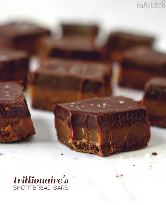 Trillionaire's Shortbread Bars: a triple chocolate version of the classic! bethcakes.com