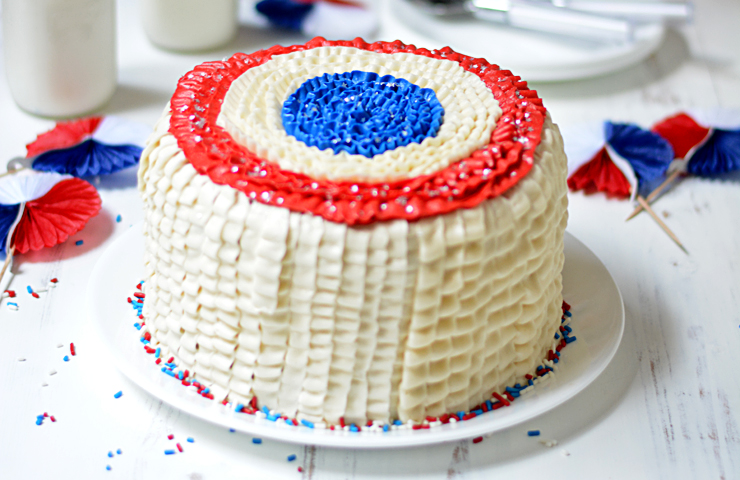 Red, White & Blue Layer Cake