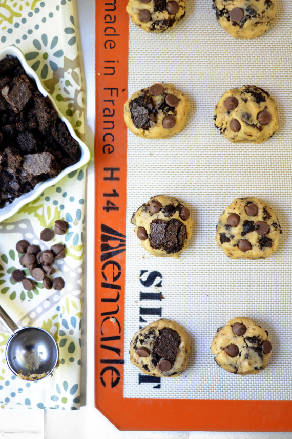 Peanut Butter Brownie Chunk Cookie! bethcakes.com