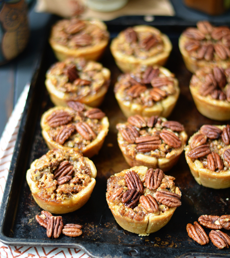 Mini Bourbon Pecan Pies
