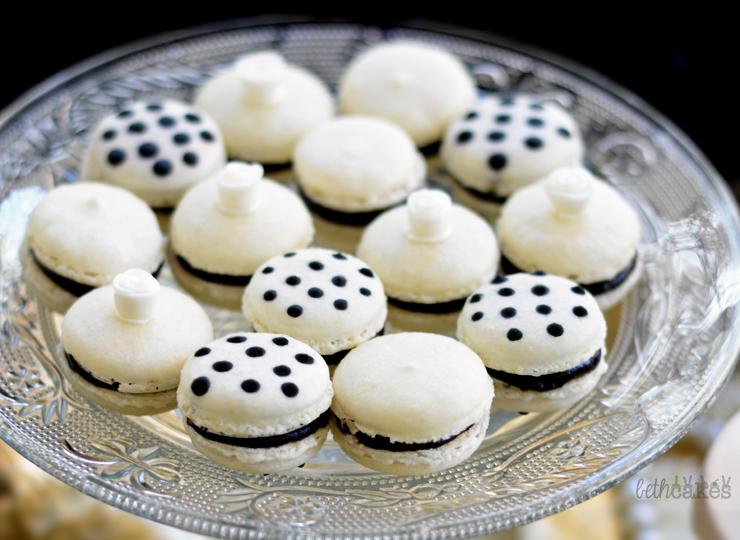 Vanilla Dark Chocolate Macarons
