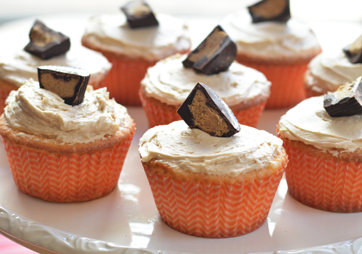 Cookie Butter Cup Surprise Cupcakes