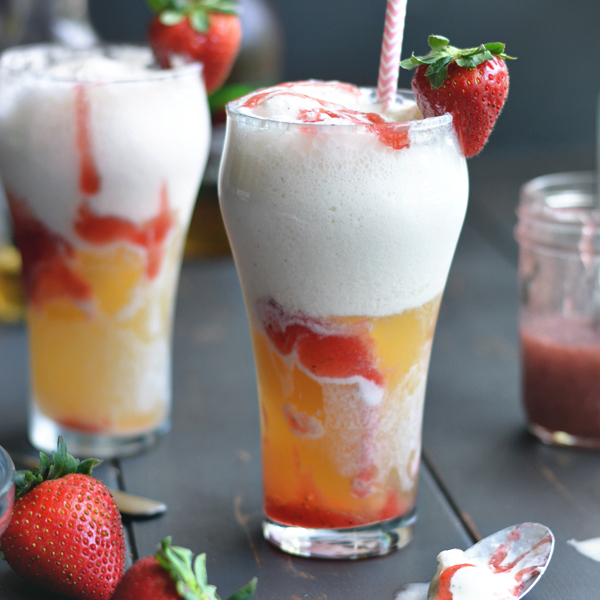 Strawberry Beer Floats for the Great Blogger BBQ!