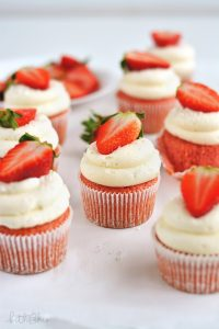 Strawberry Cupcakes with Cream Cheese Frosting