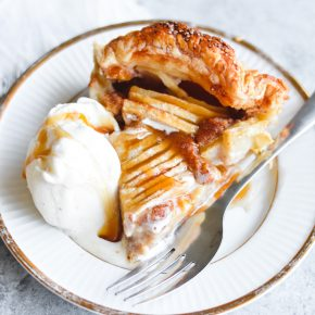 Caramel Apple Puff Pastry Skillet Galette