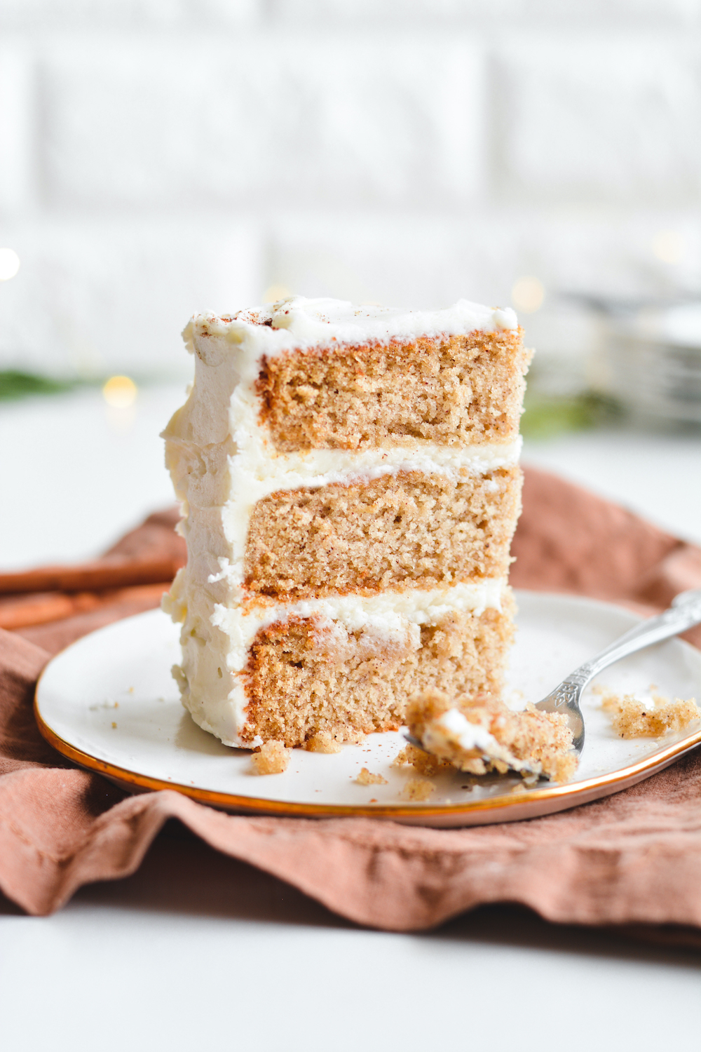 Maple Spice Cake with Cream Cheese Frosting - bethcakes.com