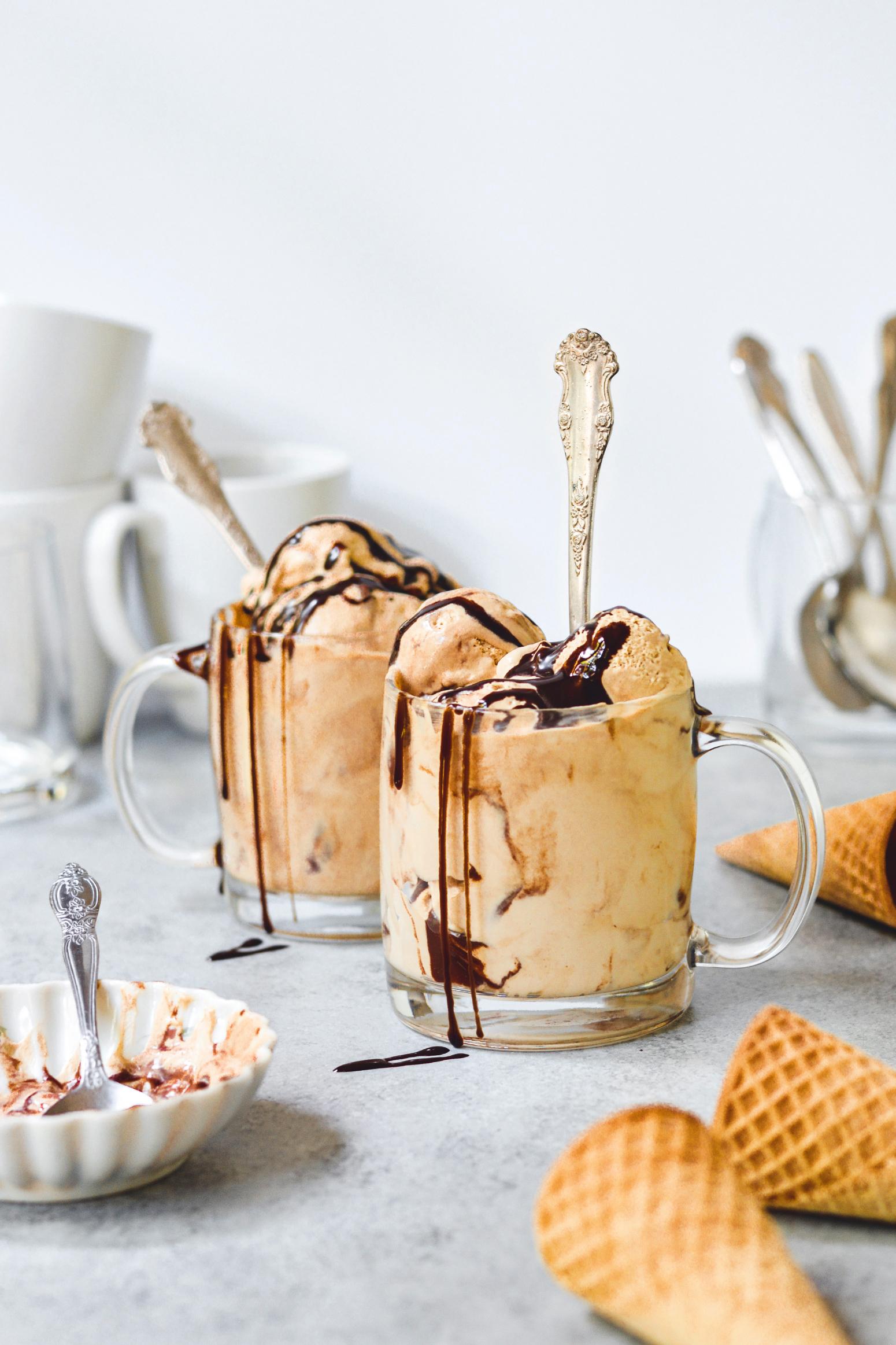 no churn chocolate coffee ice cream