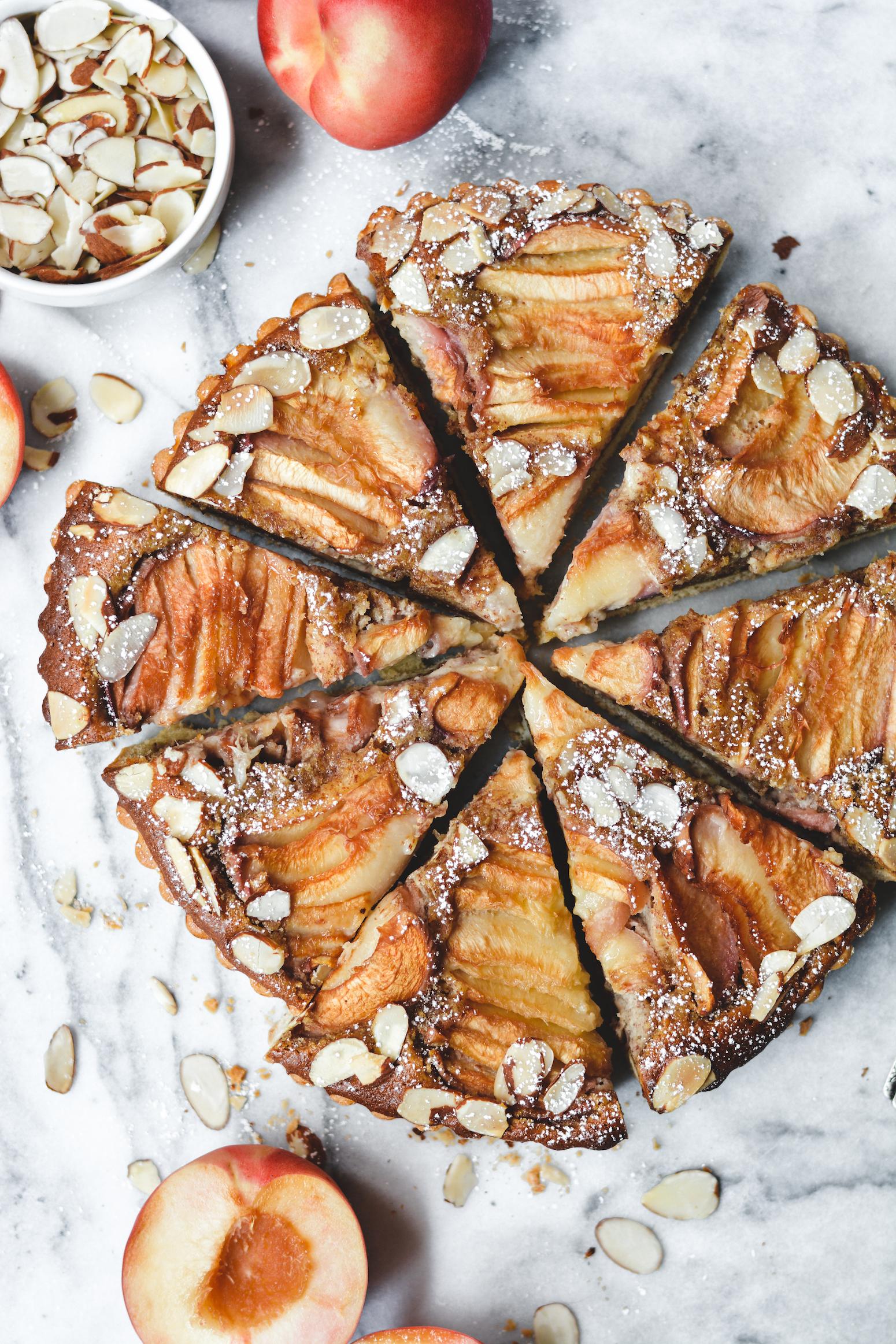 White Peach Frangipane Tart