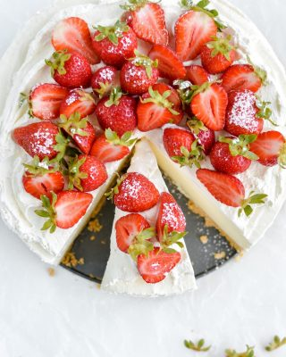 tis the season of no-bake desserts! this classic no-bake cheesecake can be dressed up a million different ways and paired with any fruit or berry. it also has the best light and creamy texture 🤩🍓 recipe link in bio!         https://bethcakes.com/classic-no-bake-cheesecake/