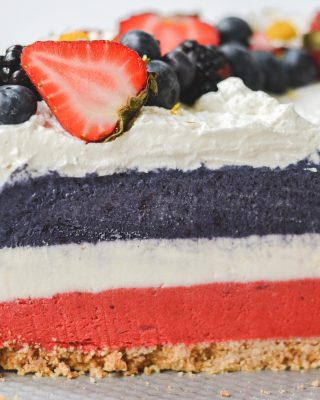 happy 4th! today's festivities include grilling and chilling. and probably some baking as we are officially out of this cheesecake lol. hope you all have a lovely sunday! ✨        https://bethcakes.com/no-bake-red-white-and-blue-cheesecake/
