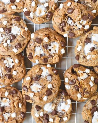 weekend = cookies & summer = s'mores 😛 what are you doing for the holiday weekend!? i'm pumped to have actual plans with friends & fam IRL this year 🎉🎇 you can find the recipe for these ultimate s'mores cookies at the link in my bio!         https://bethcakes.com/the-ultimate-smores-cookies/