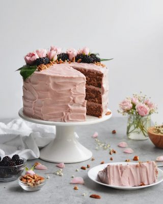 today on the blog i'm sharing the recipe for this blackberry jam cake! it's one of my absolute favorite recipes from my cookbook, and it's inspired by old fashioned southern jam cakes. the cake is flavored with seedless blackberry jam, warm spices, and chopped pecans. traditionally the frosting is similar to the caramel icing of a caramel cake, but i opted for a blackberry cream cheese frosting (look at that color 😍) and i'm SO IN LOVE with it! head to the link in my bio for the recipe! . . . https://bethcakes.com/blackberry-jam-cake/ . . . #f52grams #buzzfeedfood #huffposttaste #thekitchn #slbakes #feedfeed #feedfeedbaking #amblifeissweet #BHGfood #bhgbaking #bhgcelebrate #bareaders #f52community #foodandwine #thebakefeed #madewithkitchenaid #williamssonoma  #saveurmag #wsbakeclub #ABMfoodie #mysouthernliving #foodblogfeed #lifeandthyme #makemore #recipeoftheday #bethcakes #summervibes #foodtographyschool #howisummer