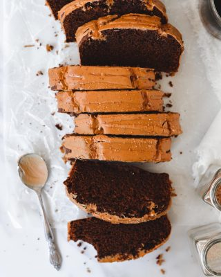 this mocha loaf cake with coffee glaze is here to help you get through your wednesday!! i am not exaggerating when i say this is the easiest cake ever. didn't even bother with a mixer! does it get better than chocolate and coffee 😌 recipe link in bio! ❤️☕️